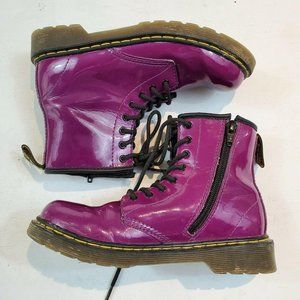 Doc Dr Martens Boots Pink Purple Kids Size US 3